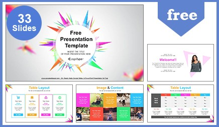 abstract triangle google slides powerpoint presentation