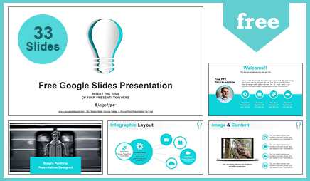 abstract paper idea bulb google slides presentation
