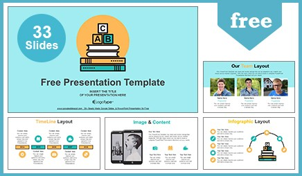 Bookcase archives free google slides themes powerpoint templates alphabet letter abc blocks on books google slides presentation toneelgroepblik