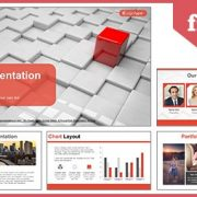 Different red quadrangle Google Slides & PowerPoint Template