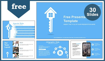estate key google slides & powerpoint presentation, Modern powerpoint