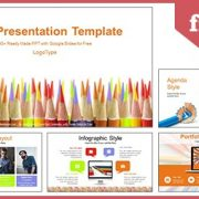 Colored Pencils Education Google Slides & PowerPoint Presentation