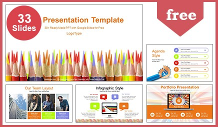 Colored pencils education google slides powerpoint presentation toneelgroepblik Image collections