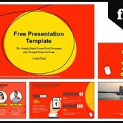 Computer Mouse with Red Background Google Slides & PowerPoint Presentation
