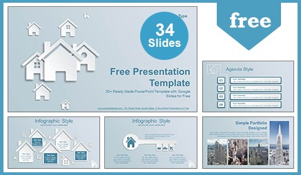 Real Estate House Icons Google Slides-PowerPoint Presentation