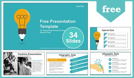 Education idea bulb google slides powerpoint presentation toneelgroepblik Image collections