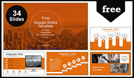 city skyscrapers view google slides themes powerpoint template