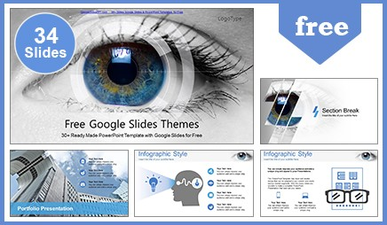 eye scanning technology google slides powerpoint template