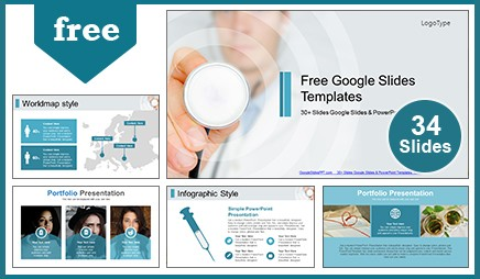 Medical Doctor with Stethoscope Google Slides Themes & PowerPoint Template