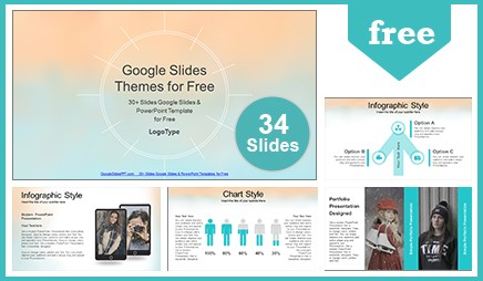 watercolor painted google slides powerpoint template