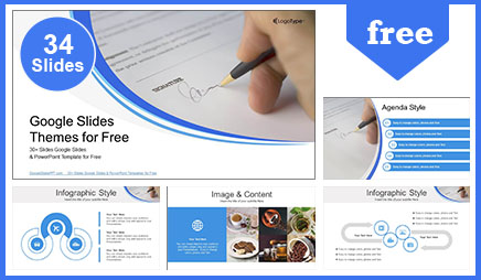 Signing a Document Business Google Slides Themes